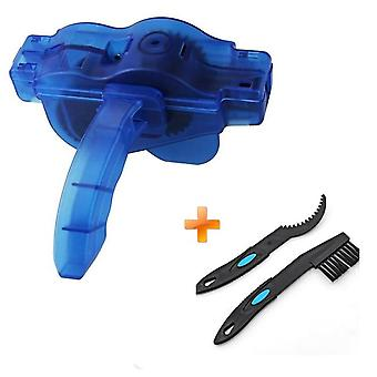 Cycling Bike, Bicycle Chain Wheel Wash Cleaner Tool, Cleaning Brushes Scrubber