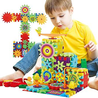 Electric Gears 3d Toy Building Kits, Plastic Brick Blocks, Educational Toys