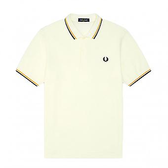 Polo Fred Perry Twin Tipped Fred Perry Shirt Weiß