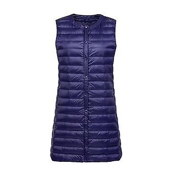 Ultra Light Down Vest Women Long Vest Windproof Lightweight Warm Waistcoat