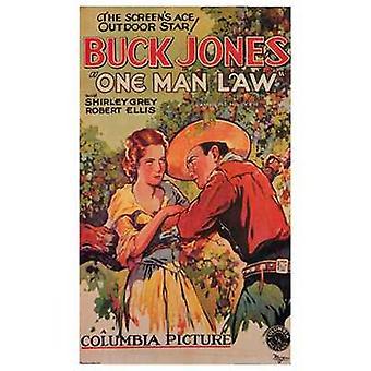 En mand lov film plakat (11 x 17)