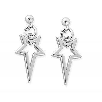 ChloBo SEST4003 Women's North Star Drop Earrings