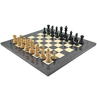 Cheltenham musta ja harmaa Briarwood shakkinappulat