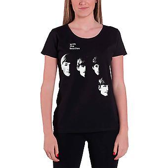The Beatles With The Beatles Virallinen Naisten Uusi Musta laiha sovi T-paita