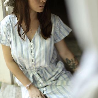 Juna Ručně tkaný uzel shirtdress