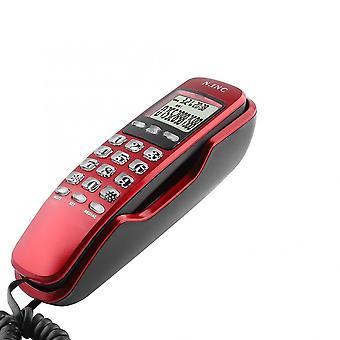 Mini Vägg trådbunden telefon - Dtmf / fsk, dubbla system, Caller Id Display Telefon