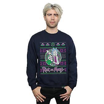 Absolútna kultový muži ' s Rick a Morty vianočný portál Tepláková bunda