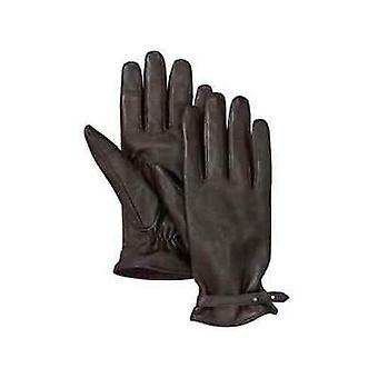 Timberland Strappy Brown Sheepskin Leather Fleece Womens Gloves A1GVP 200 A187E