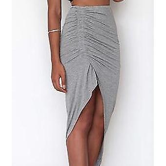 Women  Asymmetrical High Waist Open Mini Skirt