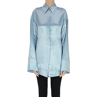 Acne Studios Ezgl151088 Dames Lichtblauw Acetaat Shirt
