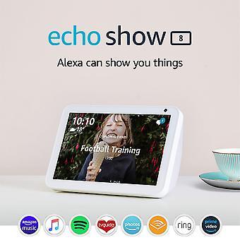 Presentazione dello echo show 8 | rimanere in contatto con l'aiuto di alexa, tessuto di arenaria