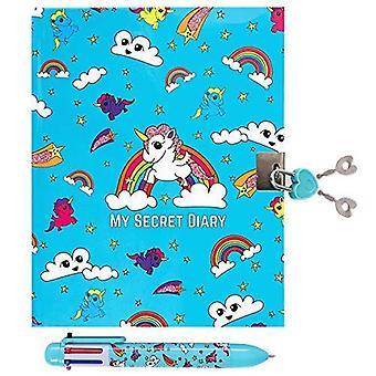 Girlzone: unicorn secret lockable journal diary & pen set for girls, great gift for girls