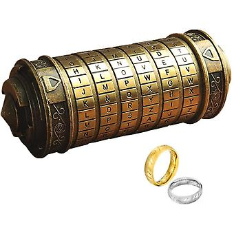 LINCMAN Da Vinci Code Mini Cryptex For Christmas Valentine's Day Most Interesting Birthday Gifts