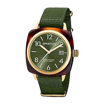 Briston 20240.PYA.T.26.NOL Clubmaster Classic Acetate Wristwatch Olive