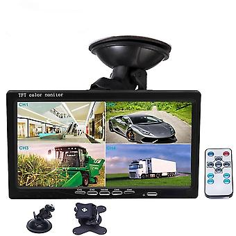 "7"" Split Screen, Quad Monitor, 4ch Video Input, Pc Audio For Car Parking,"