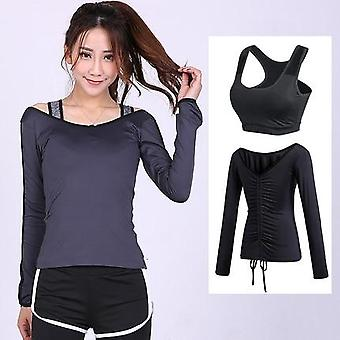 Sports Running Jackets, Hoodie Yoga Women Training Exercise Breathable Coat