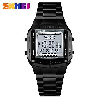 Military Sports Watches, Electronic Mens Luxury Male Clock, Waterproof, Led,
