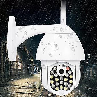GUUDGO 21 LED IP Camera 8X Zoom WiFi Dome Surveillance Camera Full Color Night Vision IP66 Waterproo