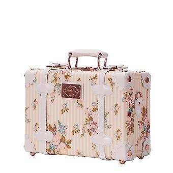 Vintage Suitcase, Carry Case, Hardside Rolling Spinner, Retro Style For Travel
