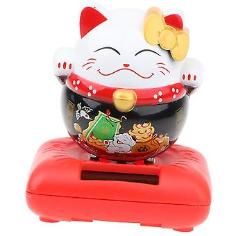 Solar Powered- Fortune Cat, Lucky Kitten, Animal Toy For Home Decor