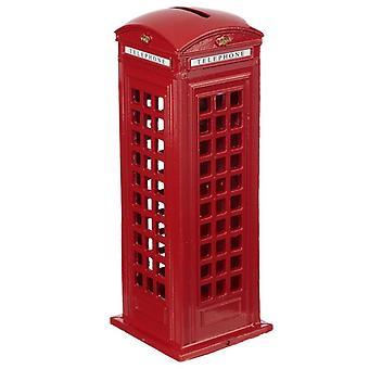 Boîte d'argent de crayon de souvenir de Londres - grande boîte rouge de téléphone