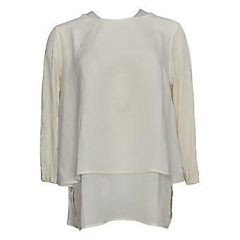 DG2 Por Diane Gilman Mujeres'Top 3/4-Sleeve Easy White 720610