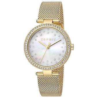 Esprit ES1L199M1035 Golden Mesh Strap Ladies Watch