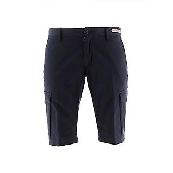 Paul und Shark Blue Woven Logo Bermuda Short