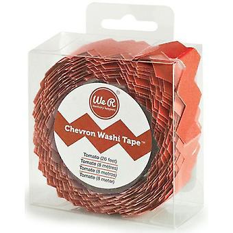 We R Memory Keepers Chevron Washi Tape - Tomato