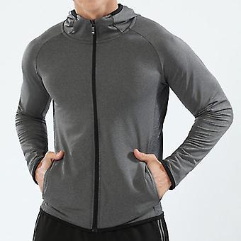 Autumn Running Jacket, Long Sleeve, Sports Hooded Shirt, Zipper T Shirts,