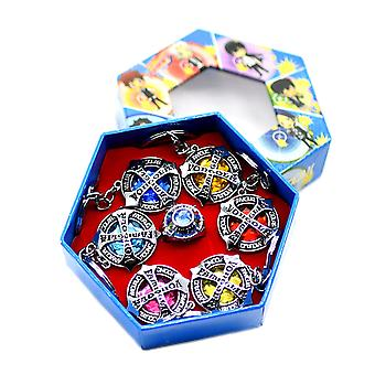 7pcs Ring Set 6 Reborn Key Rings 1 Anime Ring For Collection