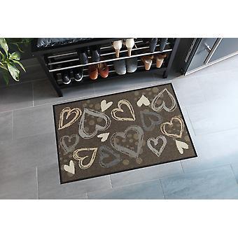 Salonloewe deurmat Valentine Hearts city chic 50 x 75 cm wasbaar