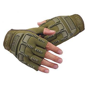 男子特殊部隊アウトドアマウンテンクライミングサイクリングフィットネススポーツ保護ハーフフィンガー戦術手袋