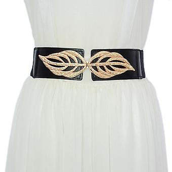 Femei elastic elastic decorativ cu rochie pulover costum talie curea