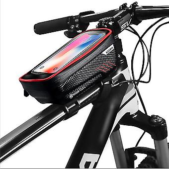 Red waterproof mtb mountain bike frame front bag bicycle phone holder az22045