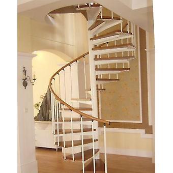 מדרגות ספירליות מקורות מעץ פלדה עבור חללים קטנים