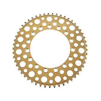 Folding Bike 53T Chainring Road Bike Negative Teeth Single Chainring(Gold)