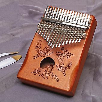 17 Keys bull kalimba thumb paino made by solid mahogany portable mbira sanza african wood finger piano