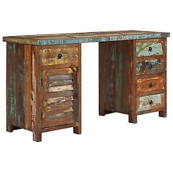 vidaXL Desk Waste wood solid 140x50x77 cm