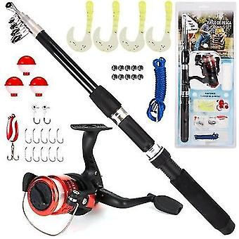 Fishing rods fishing rod and reel combo 33pcs fishing tackle set telescopic fishing rod pole with spinning reel lures float jig hooks accessories
