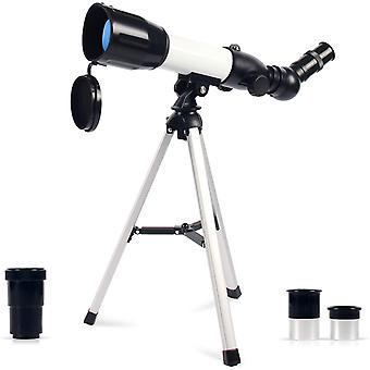 Astronomisches Teleskop Kinder, 360/50mm Super Klares Teleskop, Tragbares Refraktor Teleskop, für