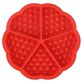 Silicone square heart shaped waffle cake mold(5 Hearts Mold)