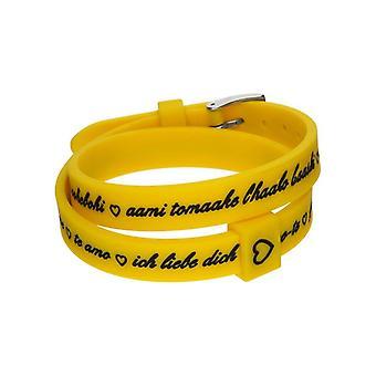 Il mezzometro i love you silver silicone bracelet  bm1711