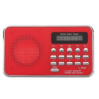 Draagbare Bijbel Audio MP3-speler Luidspreker AUX SD TF-kaart poort FM-radio voor ouderen ROOD