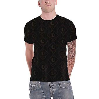 League Of Legends T Shirt All over Print Logo new Official Mens Black