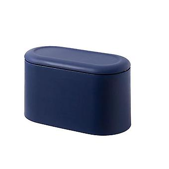 Simple Desktop Trash Bucket Small size mini storage bucket table tea table office table with cover