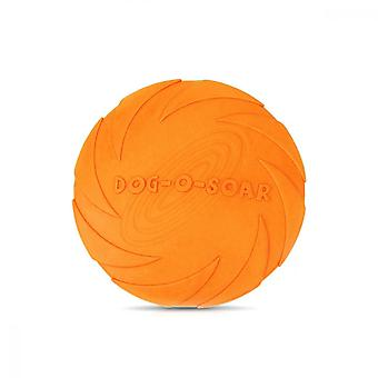 Frisbee, Elastic Rubber Pet Toy For Small Medium Cats And Dogs, Orange