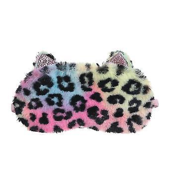 Unicorn Sleeping Mask Eye Mask Cartoo Plush Leopard Sleep Eye Patch