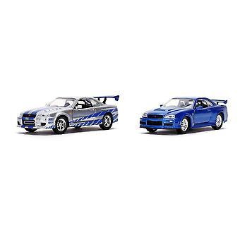 Brian's Nissan Skyline GT-R BNR34 Twin Pack Gegoten Voertuig