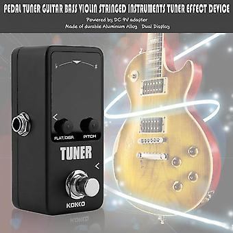 Pedal Tuner Guitar Bass Violin Stringed Instruments Tuner Effect Device